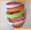 Custom logo size design cheap promotional items china personalized silicone wristbands