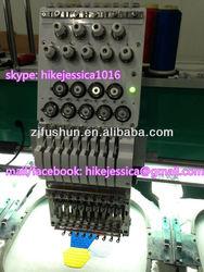 fushun 906 6heads 9colors tubular cap t shirt computerized embroidery machine