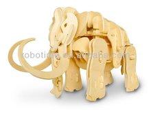 2014 robotime diy pädagogisches roboter tier mammth