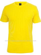 Blank plain rib o-neck 65cotton 35polyester men's t shirt