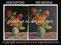 arte de la pared lienzo pintado a mano imagen de flores