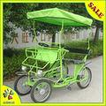 roda 4 2 pessoa bicicletas quadriciclo do bebê com sede