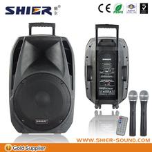 15 inch trolly wireless subwoofer creative vibrator outdoor loudspeaker