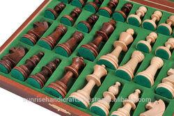 CHW22 Staunton De Lux wooden chess pieces. Size # 5.