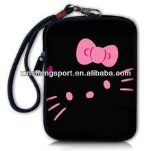 cute hello kitty neoprene wrist cell phone bag