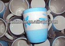 blue and zebra flower hand painted coffee mugs and drink mug