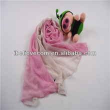 100%polyester gradient color viscose scarf rayon shawl