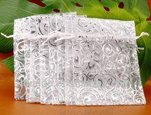 eyelash hot stamping sparkle organza bags