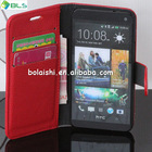 Stand wallet leather mobile phone smart cover case for htc one m7
