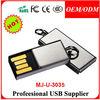 Full Capacity Metal Usb 2.0 Flash Drive Enough Memory Stick Thumbdrive Pendrive custom Logo Silver MJ-U-3035