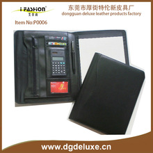 2016/2017 China dongguan manufacturer 3 Ring Zippered Compendium w/Calculator with paper block