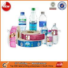 Custom plastic water bottle labels