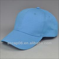 blue plain blank baseball cap no logo no