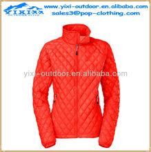 wholesale duck down softshell women winter warm jacket