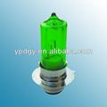 En el interior blanco y exterior verde vidrio doble bombilla/tubo de halógeno bombilla