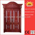 cuarto de baño interior de madera puerta doble de diseño