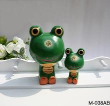zakka grocery Nordic animal ornaments hand-carved wood frog C1447 bulk