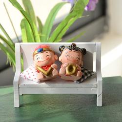 LOVE resin doll ornaments wedding gift ideas wedding crafts trumpet D0409