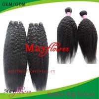 Unprocessed brazilian human hair kinky straight 5a virgin long hair china sex