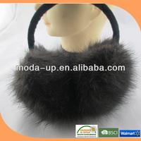 2014 fashion women rabbit fur ear muff for sale