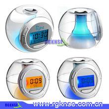 Color changing digital alarm table clock