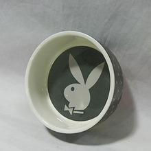 Rabbit Prints Ceramic Pet Drinking Bowl