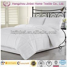White 3cm Stripe Down Alternative Comforter/Microfiber Quilt/Polyester Duvet