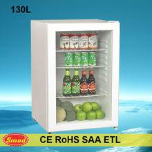 Home counter top mini bar glass door fridge, bar refrigerator