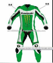 Kwasaki Motorbike,Motorcycle racing leather One piece suit