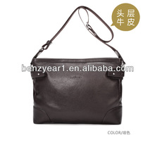 Hot sell Italian cow leather man shoulder bags