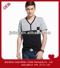 boy's fashion printed v-neck tshirts