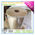 pvc shrink film for packing Transparent soft clear