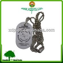 2014 custom design metal dog tag for promotional