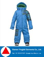 OEM 228T taslon baby boys blue one piece ski jacket for winter 2015