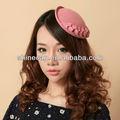 las mujeres de fieltro de lana sombrero de copa mini cinta del sombrero