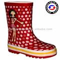 ponto vermelho bonito venda borracha botas de chuva dos miúdos