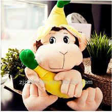 plush monkey toys hold plush bananas