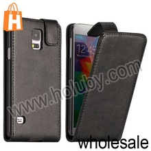 Black Top Magnetic Flip Leather Case for Samsung Galaxy S5 I9600