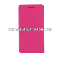 Flip leather case for HUAWEI Ascend P6
