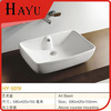 HY-5019 Square Ceramic molded bathroom sinks