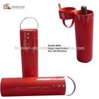 Red round 1 bottle leather wine carrier