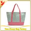 Cute Nylon Tote Shopping Bag With Small Polka Dots