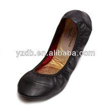Stitching Handmade ladies elegant flat shoes