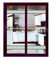 Aluminium three panel sliding glass door Double glazed aluminum door comply with AS/NZS2047 AS/NZS2208