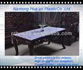 De flores de color púrpura de plástico laminado de tela de mesa, de transferencia de calor película de pvc 200 micras