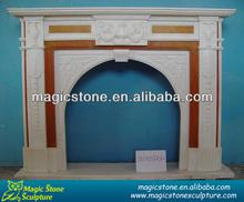 natural stone italian fireplace mantel