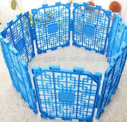 Plastic blue pet puppy playpen