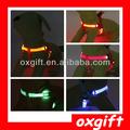 oxgift piscando nylon correia do cão piscando glow correiasdesegurança glowing led chicote t13306