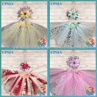 Girl Summer Tutu Dress 2014 New Lovely Wholesale Flower Baby Girl Summer Tutu Dress With Headband Set