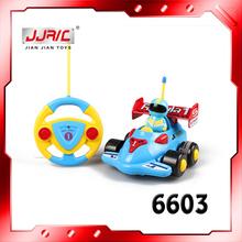 Cartoon Design 6603 Mini Radio Control Car For Baby Musical Electric Toys Radio Control Model Car with 4 Styles